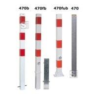 Absperrpfosten -Bollard- 70 x 70 mm, Stahl, herausnehmbar oder feststehend, wahlweise mit Ösen