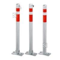 Absperrpfosten -Steel Line- Ø 64 mm aus Stahl, zum Aufdübeln, umlegbar oder feststehend
