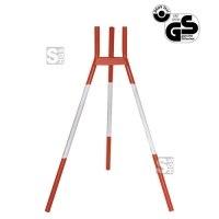 Absperrständer -A1801- zum Einhängen von Absperrstangen, Höhe 1000 mm, rot / weiß
