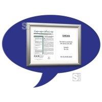 Alu-Klapprahmen -Luftblase-, Rahmenbreite 50 mm, Außenmaß 800 x 550 mm, DIN A3, blau