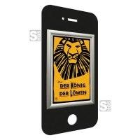 Alu-Klapprahmen -Smartphone-, Rahmenbreite 50 mm, Außenmaß 380 x 740 mm, DIN A3, schwarz