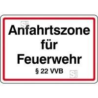 Anfahrtszone für Feuerwehr §22 VVB