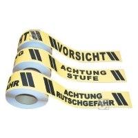 Antirutsch-Bodenmarkierungsband m2 mit Warntext, 75 mm x 18,3 m