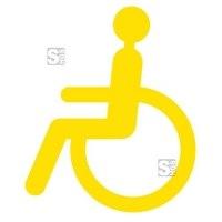 Antirutsch-Piktogramm Rollstuhlfahrer -WT-5811-, retroreflektierend und rutschhemmend, 250x300 mm