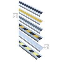Antirutsch-Treppenkantenprofil -Easy Clean-, Rutschhemmung R10, zum Verschrauben oder selbstklebend