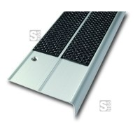 Antirutsch-Treppenkantenprofil aus Aluminium, zweireihig