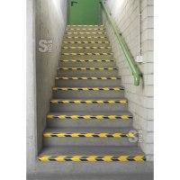 Antirutsch-Treppenprofil -DeLuxe- aus Aluminium, Rutschhemmung R10 nach DIN 51130, für Verwaltungs- und Innenbereiche