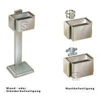 Ascherbox -City 900- aus Stahl, Volumen ca. 6,7 Liter, zur Wand,- Ständer- oder Mastbefestigung