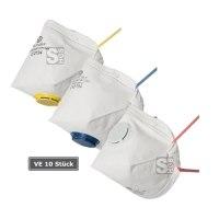 Atemschutzmaske -ClassicLine IV- mit Ausatemventil, faltbar, Schutzstufe FFP 1-3, Filterklasse 1-3, Verpackungseinheit (VE) 10 Stück