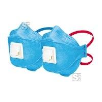 Atemschutzmaske -FoodIndustry- mit Ausatemventil, Schutzstufe FFP NR D 2-3, Filterklasse 2-3