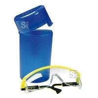 Aufbewahrungsbox für Schutzbrillen, inkl. Gürtelclip