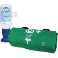 Augenspülflasche mit gepufferter Spüllösung BioPhos®74, 250 ml, wahlweise mit Gürteltasche