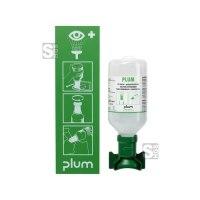 Augenspülstation -PLUM 1-, inkl. 500ml Augenspülflasche und Anleitungstafel, DIN 15154-4