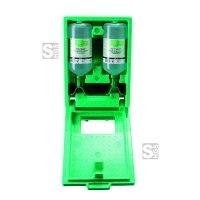 Augenspülstation -PLUM DUO-, inkl. 2 x 1000 ml Augenspülflasche und Wandbox, zur Wandmontage