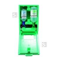 Augenspülstation -PLUM DUO-, inkl. 2 x Augenspülflasche und mit Wandbox, zur Wandmontage