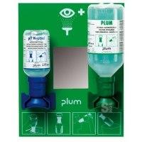 Augenspülstation -PLUM-, inkl. 2 Augenspülflaschen, zur Wandmontage