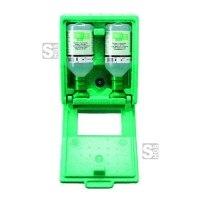Augenspülstation -PLUM-, inkl. 2 x 500 ml Augenspülflasche und Wandbox, zur Wandmontage