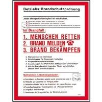 Aushang, Betriebs-Brandschutzordnung