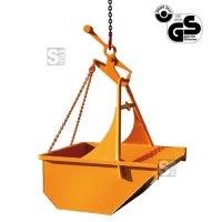 Aushubkübel -A1044- mit Bügel, Kette und Sicherheitshaken, 200-3000 Liter