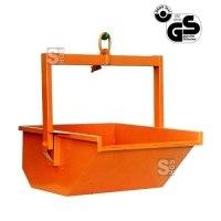 Aushubmulde -A1045- stapelbar, mit Bügel, Einhängering und Verschlussriegel, 200-3000 Liter