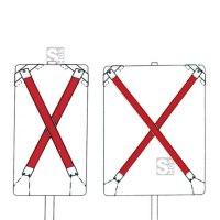 Auskreuzung Typ 3, für Verkehrszeichen nach Zeichen 500 und Wegweiser bis 1600x1250 mm, Folie RA3