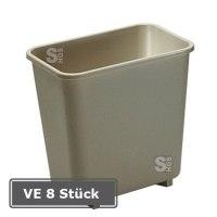 Ausstellungsstücke - Papierkorb -Square- Rubbermaid 7,7 Liter, PE, Verpackungseinheit (VE) 8 Stk.