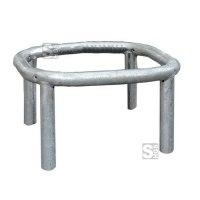 Baumschutzbügel aus Stahlrohr, Bodenmontage