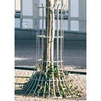 Baumschutzgitter aus Flachstahl, Ø 900 oder 1250 mm, Bodenmontage, wahlweise farbig beschichtet