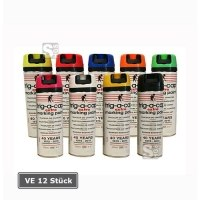 Baustellen-Markierfarbe -trig-a-cap extra-, 500 ml, langfristig, schnelltrocknend, höhere Deckkraft, VE 12 Dosen
