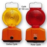 Baustellen Warnleuchte mit LED Technik, Ø 180 mm, zweiseitig