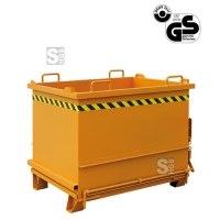 Baustoff-Container -B2035- mit Klappboden u. auto. Entriegelung, 300-1000 L, lackiert o. verzinkt