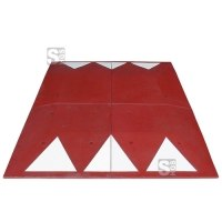 Berliner Kissen Komplett-Set, 2000 x 1800 x 65 mm, &lt,30 km / h, inkl. Montagematerial, wahlweise rot oder schwarz