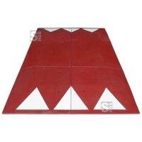 Berliner Kissen Komplett-Set, 3000 x 1800 x 65 mm, &lt,30 km / h, inkl. Montagematerial, wahlweise rot oder schwarz