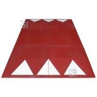 Berliner Kissen Komplett-Set, 3000 x 1800 x 65 mm, &lt,30 km / h, mit Montagemat., in rot oder schwarz