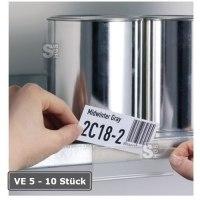 Beschriftungsfenster -Schildfix- oder -Scanfix- zur Kennzeichnung, VE 5 - 10 Stück, selbstklebend, Breite 200 mm