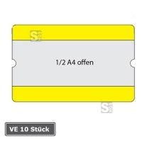 Beschriftungstaschen -WT-5118-, VE 10 Stück, 1 / 2 DIN A4, staplerüberfahrbar