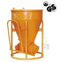 Betonsilo -B1013-, Auslauf zylindrisch, Patentverschluss, 150-4000 Liter, Handhebel oder Handrad