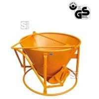 Betonsilo -B1014-, Auslauf gerade, Patentverschluss, 120-500 Liter, Handhebel
