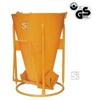 Betonsilo -B1015LH-, Auslauf gerade, Patentverschluss, 150-1000 Liter, Handhebel oder Handrad, extra leicht