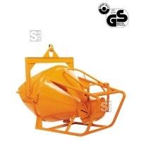 Betonsilo -B1019-, Auslauf zylindrisch / gerade, Patentverschluss, 150-2000 L, Handhebel oder -rad