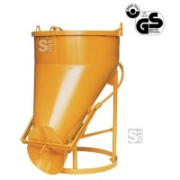 Betonsilo -B1021-, Auslauf seitlich, Klappenverschluss, 150-4000 Liter, Handhebel oder Handrad
