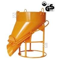 Betonsilo -B1022LH-, Auslauf seitl., Klappenverschl., 150-1000 L, Handhebel oder -rad