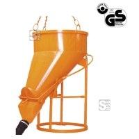 Betonsilo -B1023-, Auslauf seitlich (Schlauchanschluss), Klappenverschluss, 250-2000 Liter