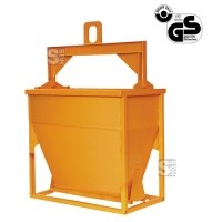 Betonsilo -B1093- zum Gießen von Schalungen, Auslauf gerade, 500-4000 Liter, Handhebel oder -rad
