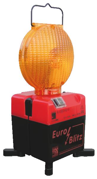 Blitzleuchte -Euro-Blitz- ein- / zweiseitig, Batterie- o. Akkubetr., wahlweise Aufdruck -Feuerwehr-