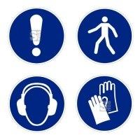 Boden-Sicherheitskennzeichen -Gebotszeichen Outdoor- aus PVC, R11, selbstklebend, nach ASR A1.3