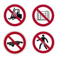 Boden-Sicherheitskennzeichen -Verbotszeichen Indoor- aus PVC, R11, selbstkl., auch nach ASR A1.3