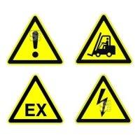 Boden-Sicherheitskennzeichen -Warnzeichen Indoor- aus PVC, R11, selbstklebend, nach ASR A1.3