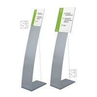 Bodenaufsteller mit Spannseil und Infotafel -Lite Secure- DIN A3 oder DIN A4