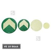 Bodenmarkierung / Ronde aus Aluminium, VE 10 Stück, langnachleuchtend
